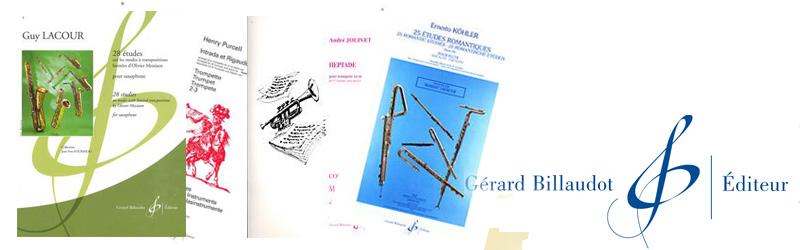 Catalogus bladmuziek Gérard Billaudot