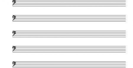 blanco muziekpapier - bas